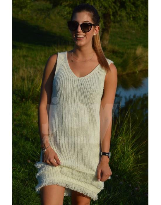 Ujjatlan kötött ruha - Joy Fashion Webáruház 22281f1dc3